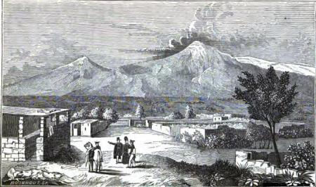 """""""Ararat from Syrbaghan"""" from Friedrich Parrot`s book """"Journey to Ararat"""", English translation by W.D. Cooley, New York, 1846"""